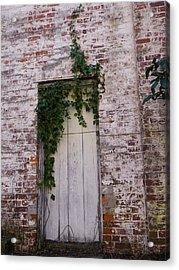Abandoned Door Acrylic Print by Warren Thompson