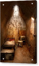 Abandoned - Eastern State Penitentiary - Life Sentence Acrylic Print by Mike Savad