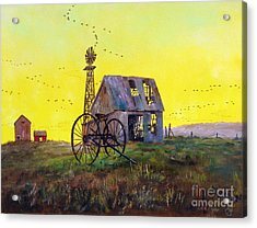 Abandoned  Farm Acrylic Print by Lee Piper