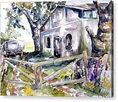 Abandoned Farm  Nossentin Acrylic Print by Barbara Pommerenke