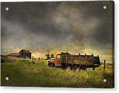 Abandoned Farm Truck Acrylic Print by Theresa Tahara