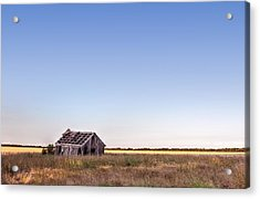 Abandoned Farmhouse In A Field Acrylic Print