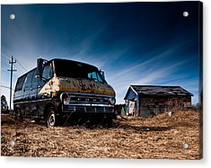 Abandoned Ford Van Acrylic Print by Cale Best