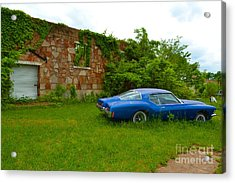Acrylic Print featuring the photograph Abandoned Gym And Car by Utopia Concepts