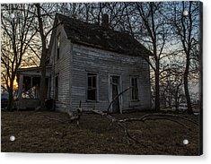 Abandoned Home Acrylic Print by Aaron J Groen