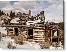 Abandoned Home Or Business Acrylic Print by Sue Smith