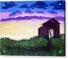 Abandoned In The Evening Acrylic Print by Joy Gilley