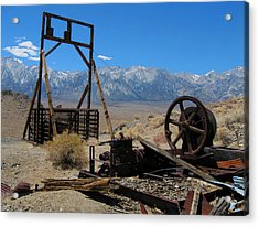 Abandoned Mine With View Of Eastern Sierras Acrylic Print