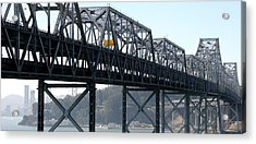 Abandoned Old Bridge And Yerba Buena Acrylic Print by Panoramic Images
