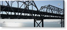 Abandoned Old Bridge Viewed From San Acrylic Print by Panoramic Images