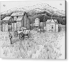 Abandoned Old Farmhouse And Barn Acrylic Print