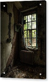 Abandoned - Old Room - Draped Acrylic Print by Gary Heller