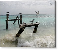 Acrylic Print featuring the photograph Abandoned Pier by Sean Griffin
