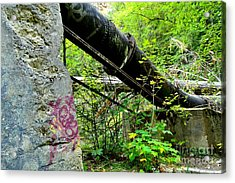 Abandoned Pipeline I Acrylic Print by Phil Dionne