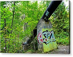 Abandoned Pipeline II Acrylic Print by Phil Dionne