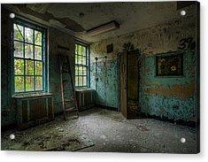 Abandoned Places - Asylum - Old Windows - Waiting Room Acrylic Print