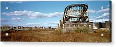 Abandoned Rollercoaster In An Amusement Acrylic Print by Panoramic Images