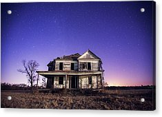 Abandoned Rural Farmhouse Acrylic Print by Malcolm Macgregor