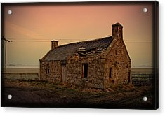 Abandoned Scottish Croft Acrylic Print by Liz  Alderdice
