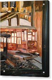 Abandoned Streetcar In Savannah Acrylic Print by Christina Campo-Abdoun