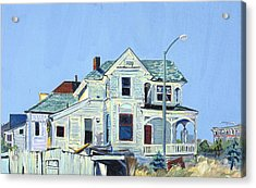 Acrylic Print featuring the painting Abandoned Victorian In Oakland  by Asha Carolyn Young