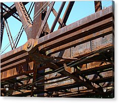 Abandoned - Whitford Railroad Bridge Acrylic Print by Richard Reeve