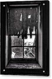 Abandoned Window Acrylic Print by H James Hoff