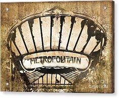 Abbesses Metropolitain Acrylic Print