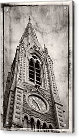 Abbey Church Clock Acrylic Print