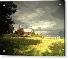 Abbey Fields And St Michaels Church In, Historic Site Acrylic Print