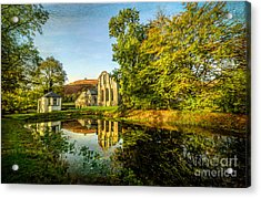Abbey Lake Autumn Acrylic Print by Adrian Evans