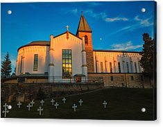 Abbey Of Gethsemene Golden Hour Acrylic Print