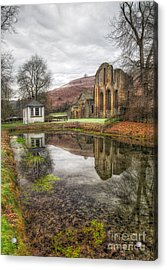 Abbey Reflection Acrylic Print by Adrian Evans
