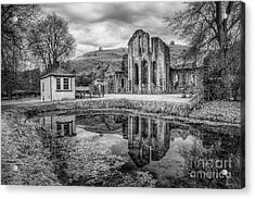 Abbey Reflections Acrylic Print by Adrian Evans