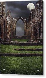 Abbey Steps Acrylic Print by Amanda Elwell