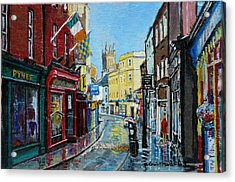 Abbey Street Ennis Co Clare Ireland Acrylic Print by Tomas OMaoldomhnaigh