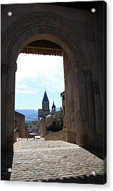 Abbey Through Doorway - Cluny Acrylic Print by Christiane Schulze Art And Photography