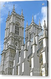 Acrylic Print featuring the photograph Abbey Towers by Ann Horn
