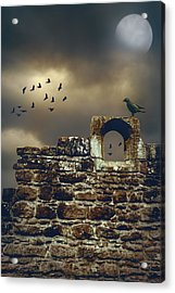 Abbey Wall Acrylic Print by Amanda Elwell
