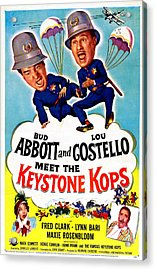 Abbott And Costello Meet The Keystone Acrylic Print