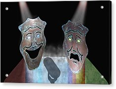 Abbott And Costello Acrylic Print by Steven  Michael