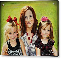 Abby And The Girls Acrylic Print by Glenn Beasley