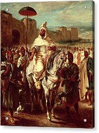 Abd Ar-rahman, Sultan Of Morocco, 1845 Oil On Canvas Acrylic Print by Ferdinand Victor Eugene Delacroix