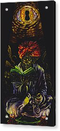 Abdul Alhazred With Necronomicon Acrylic Print by Mani Price