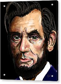 Abe Lincoln Acrylic Print by Maria Schaefers