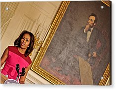 Abe...and The First Lady Acrylic Print by Douglas Adams
