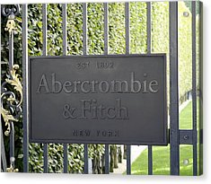 Abercrombie And Fitch Store In Paris France Acrylic Print