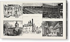 Aberdeen Herring Cleaners At Work Top Row, Left Victoria Acrylic Print by English School