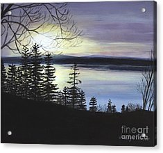 Acrylic Print featuring the painting Aberdeen Sunrise by Jesslyn Fraser
