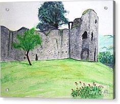 Abergavenny Castle Acrylic Print